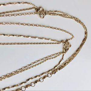 Stella & Dot Three Strand Layering Necklace